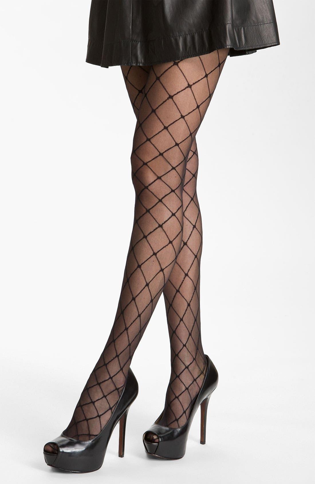 Alternate Image 1 Selected - Nordstrom Faux Stringer Pantyhose