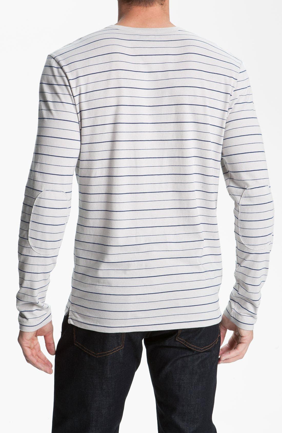 Alternate Image 2  - 1901 Stripe Long Sleeve T-Shirt