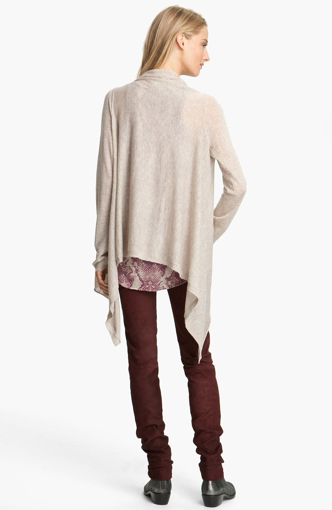 Alternate Image 2  - Zadig & Voltaire Drape Front Cashmere Cardigan