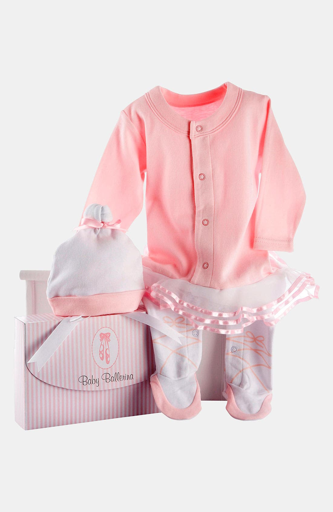 Alternate Image 2  - Baby Aspen 'Ballerina' Footie & Hat (Baby Girls)