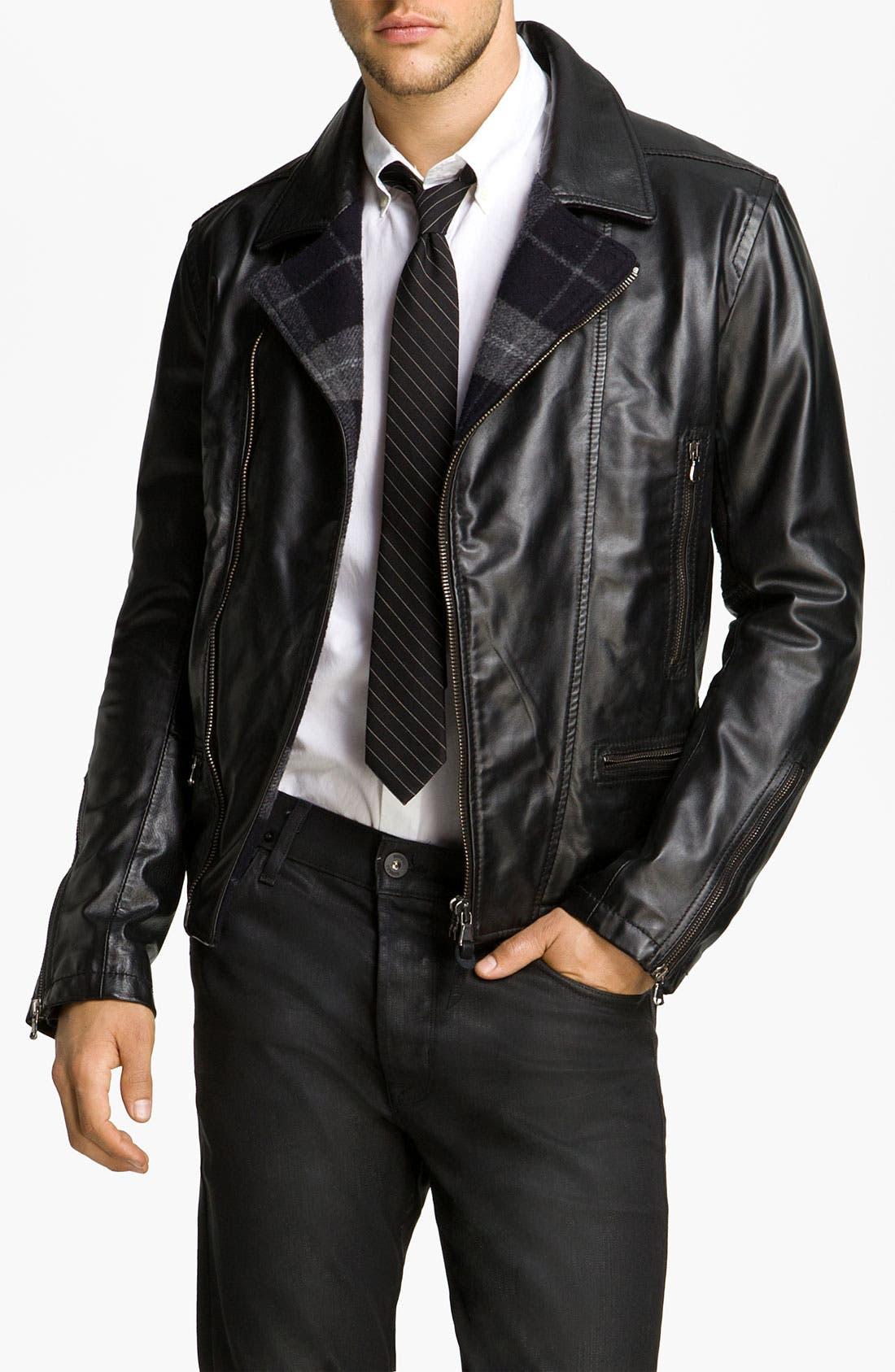 Main Image - Edun Leather Moto Jacket