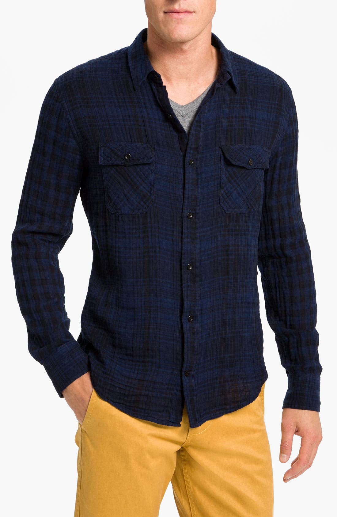 Alternate Image 1 Selected - Vince Dual Plaid Flannel Shirt