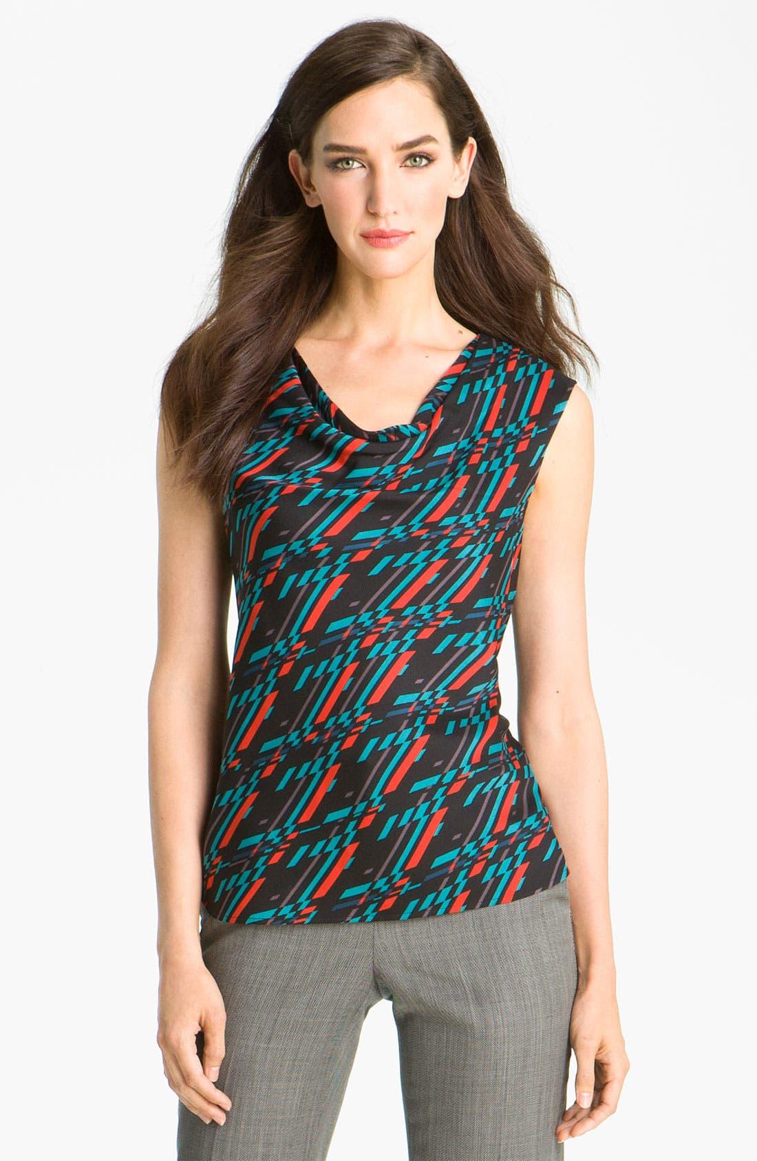 Main Image - Classiques Entier® Drape Neck Stretch Silk Top