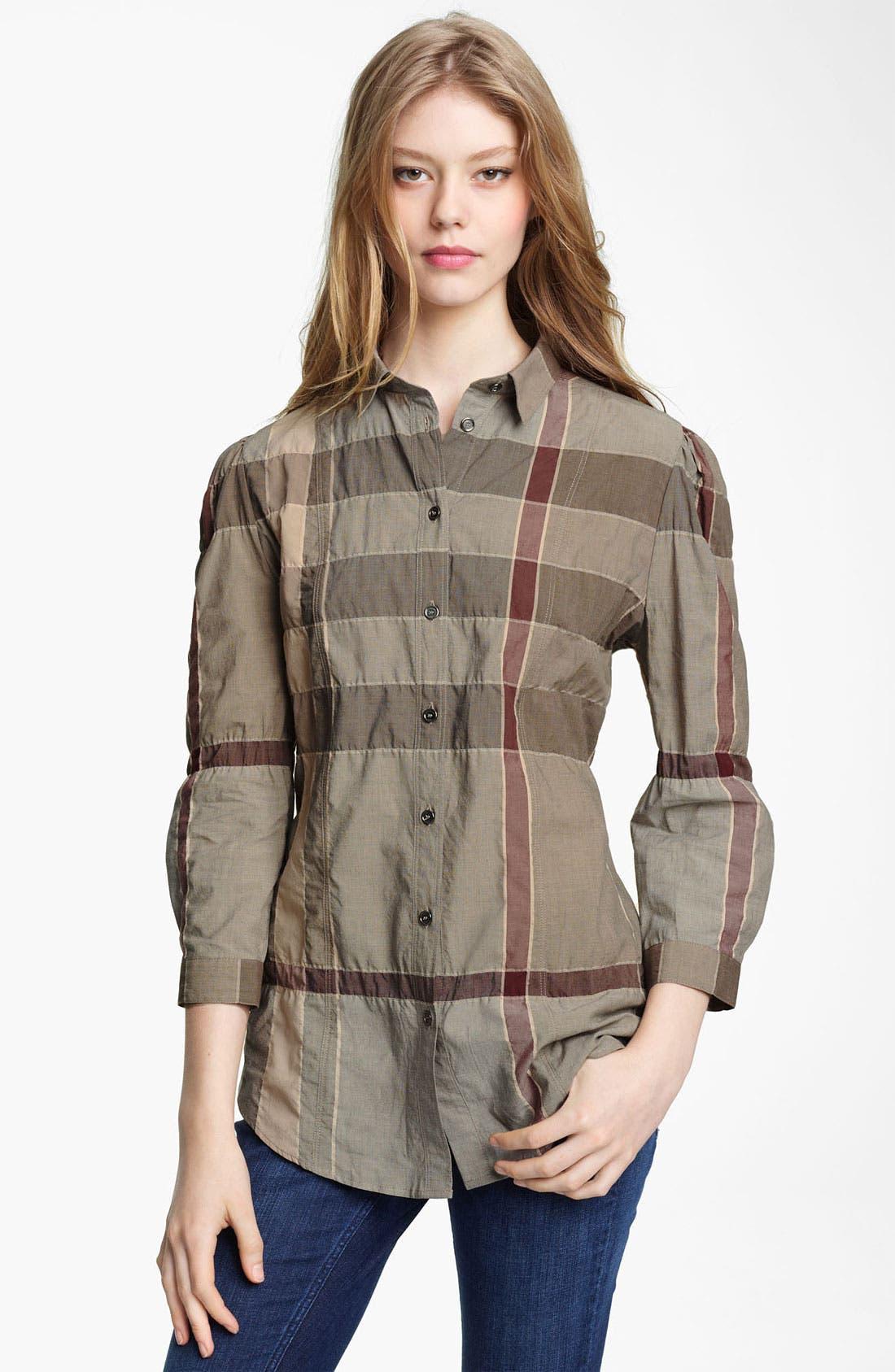 Alternate Image 1 Selected - Burberry Brit Check Print Shirt