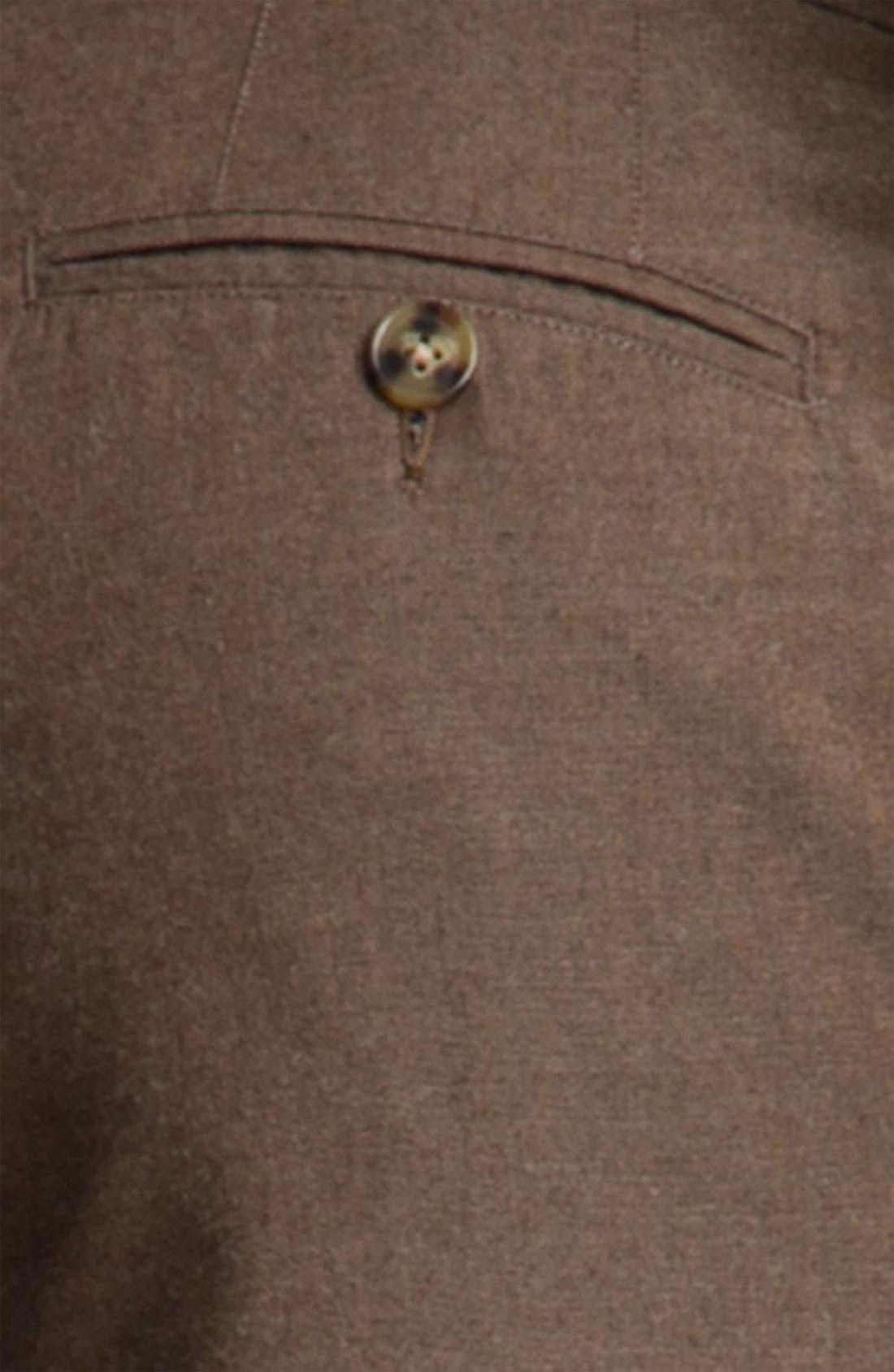 Alternate Image 3  - Peter Millar Flat Front Cotton Trousers