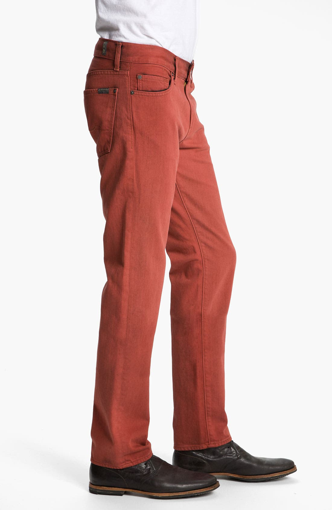 Alternate Image 3  - 7 For All Mankind® 'Slimmy' Slim Straight Leg Jeans (Spicy Red)