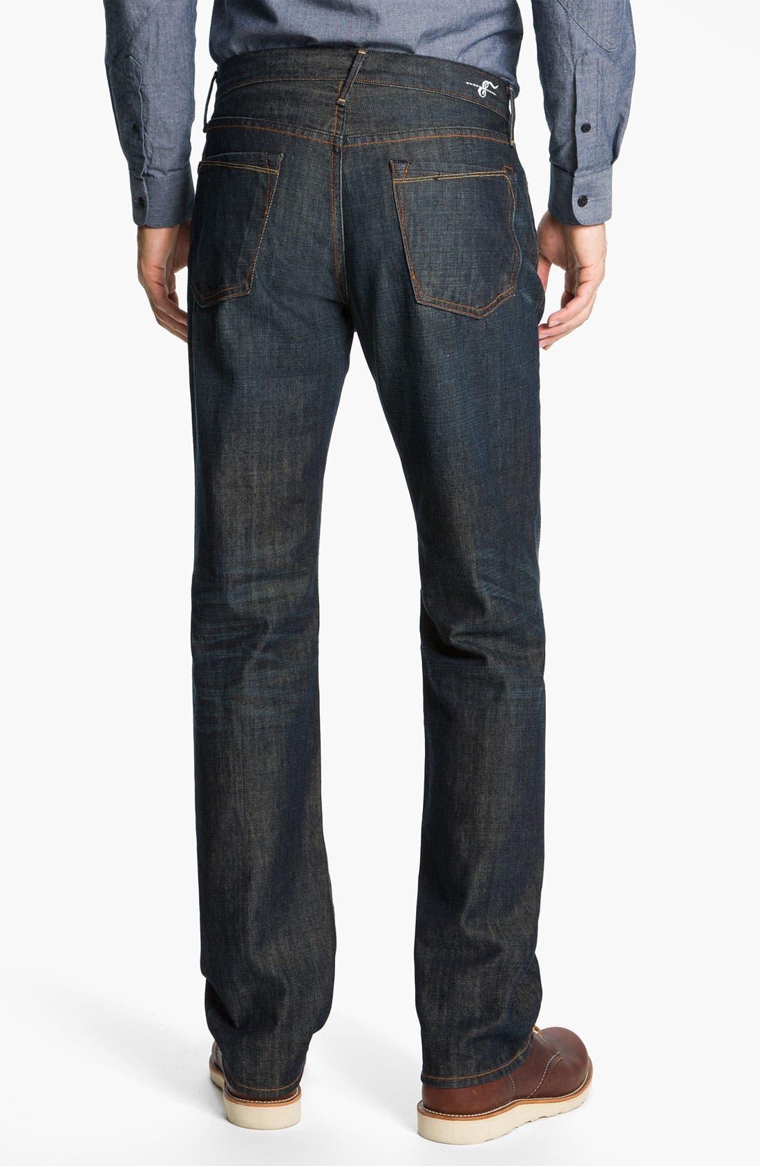 Alternate Image 2  - Earnest Sewn 'Dexter' Relaxed Straight Leg Jeans (Maz Dark)