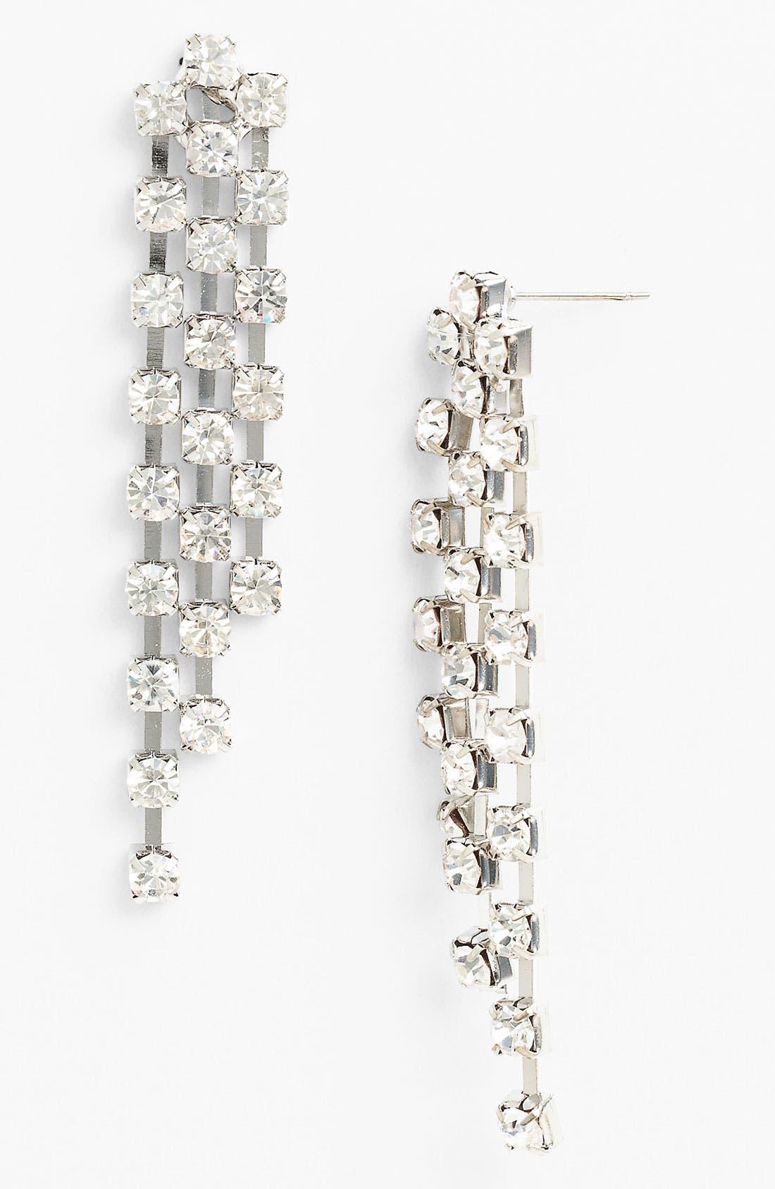 Alternate Image 1 Selected - Carole Rhinestone Cascade Earrings