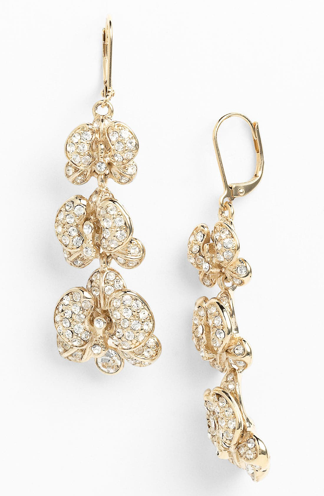 Alternate Image 1 Selected - Givenchy Flower Linear Earrings