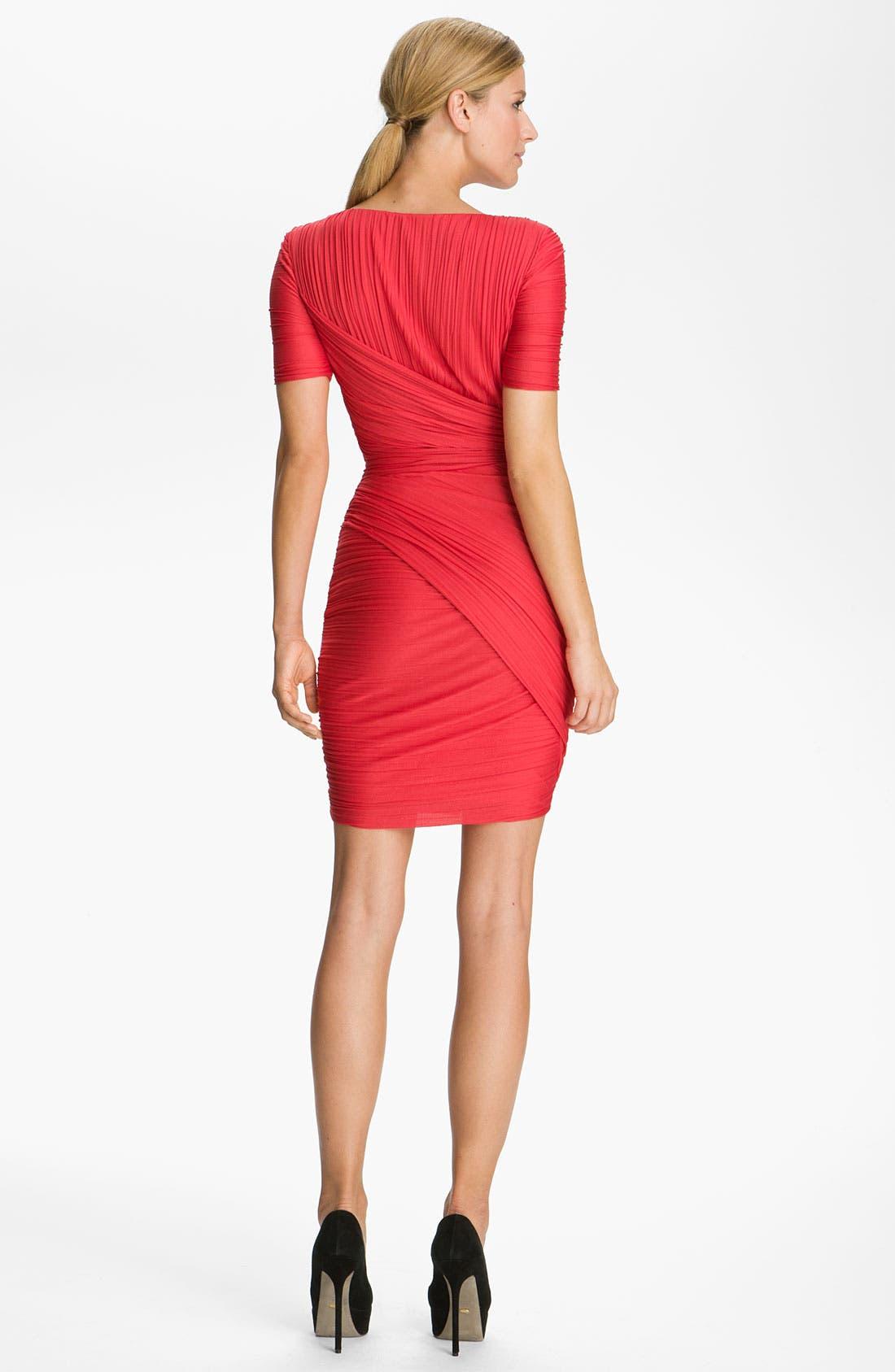 Alternate Image 2  - Halston Heritage Pleated Jersey Dress