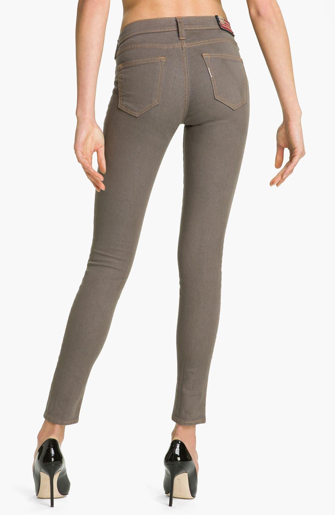 Alternate Image 2  - True Religion Brand Jeans 'Halle' Skinny Stretch Jeans (Dark Storm)