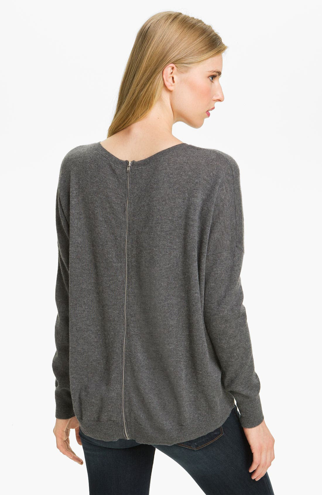 Alternate Image 2  - autumn cashmere Zip Detail Sweater