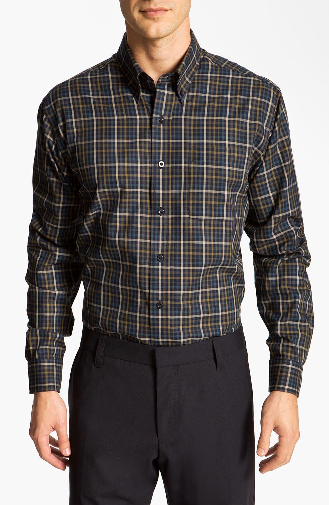 Alternate Image 1 Selected - Cutter & Buck 'Cypress' Check Sport Shirt (Online Only)
