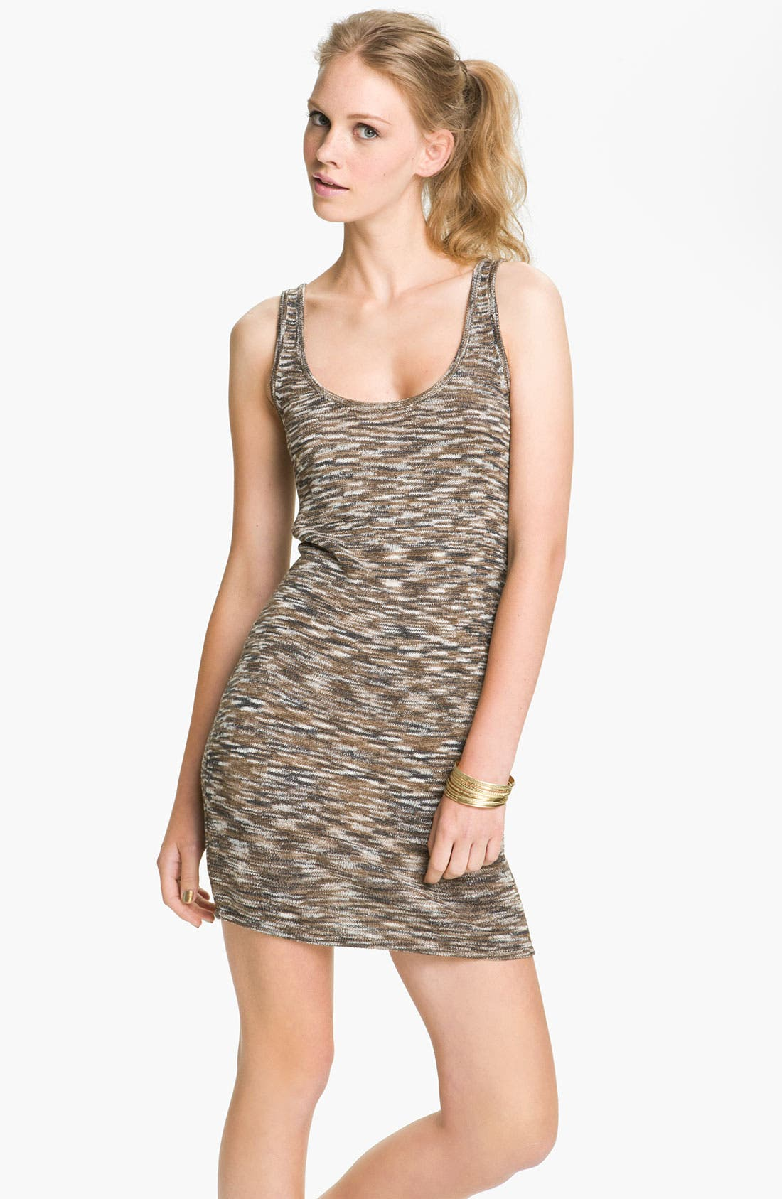 Main Image - Jack 'Janette' Mélange Tank Dress (Juniors)