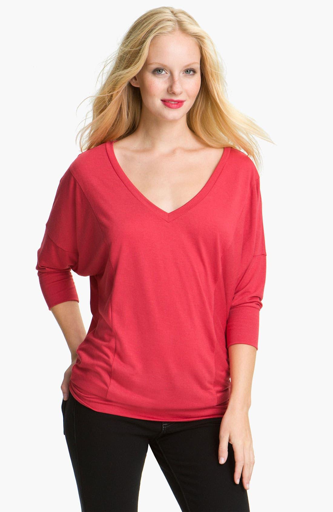 Alternate Image 1 Selected - Caslon® Dolman Sleeve Jersey Top