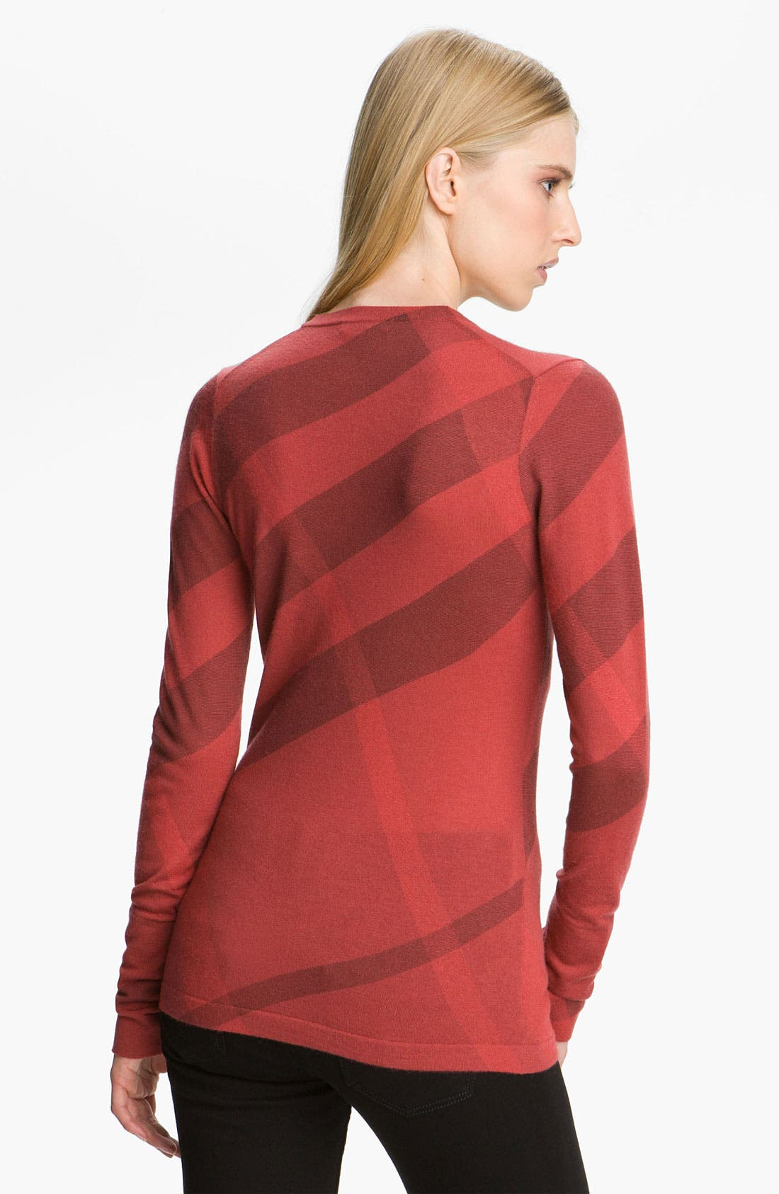 Alternate Image 2  - Burberry Brit Scoop Neck Merino Wool & Cashmere Sweater