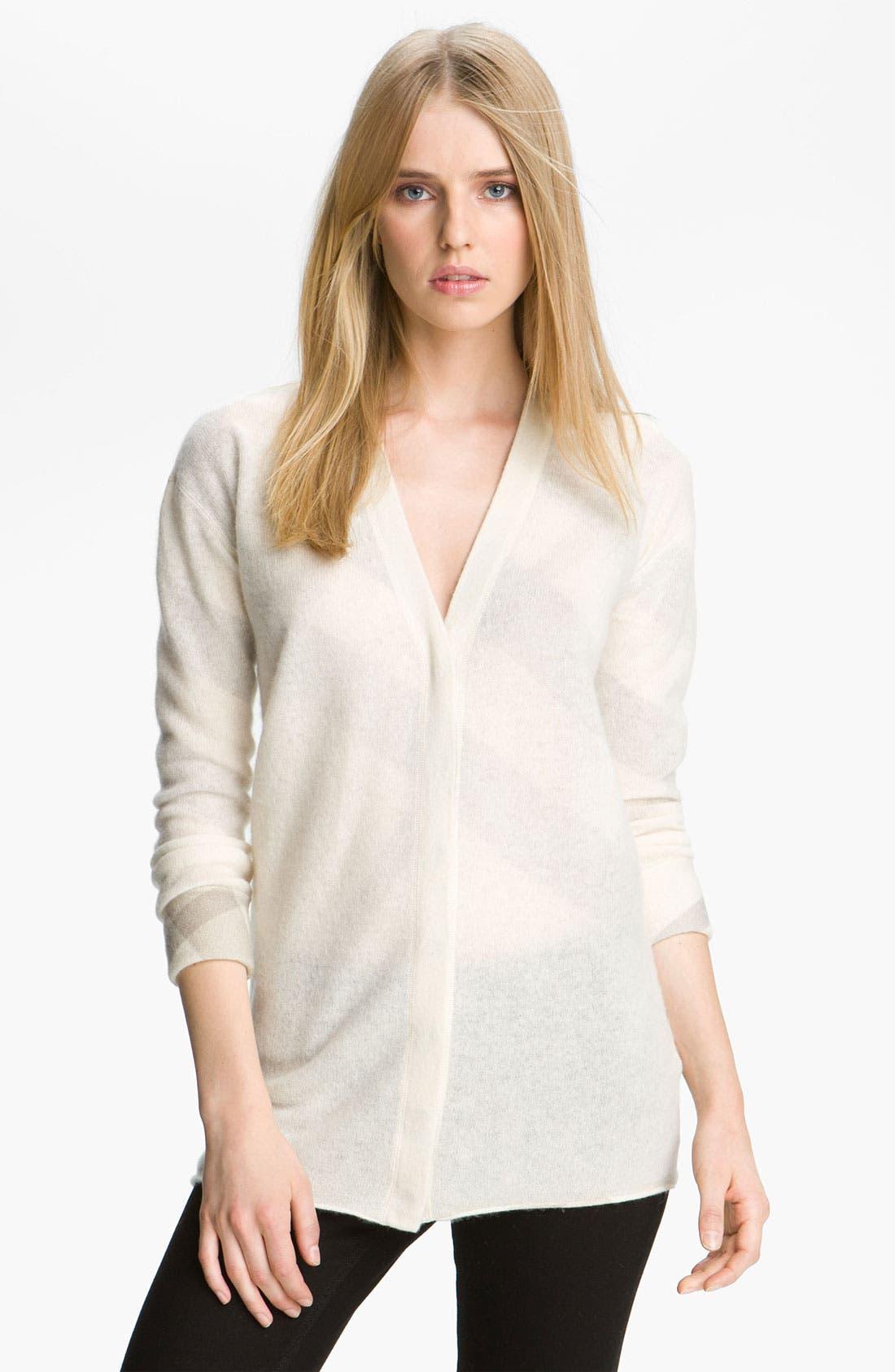 Alternate Image 2  - Burberry Brit Reversible Wool & Cashmere Cardigan