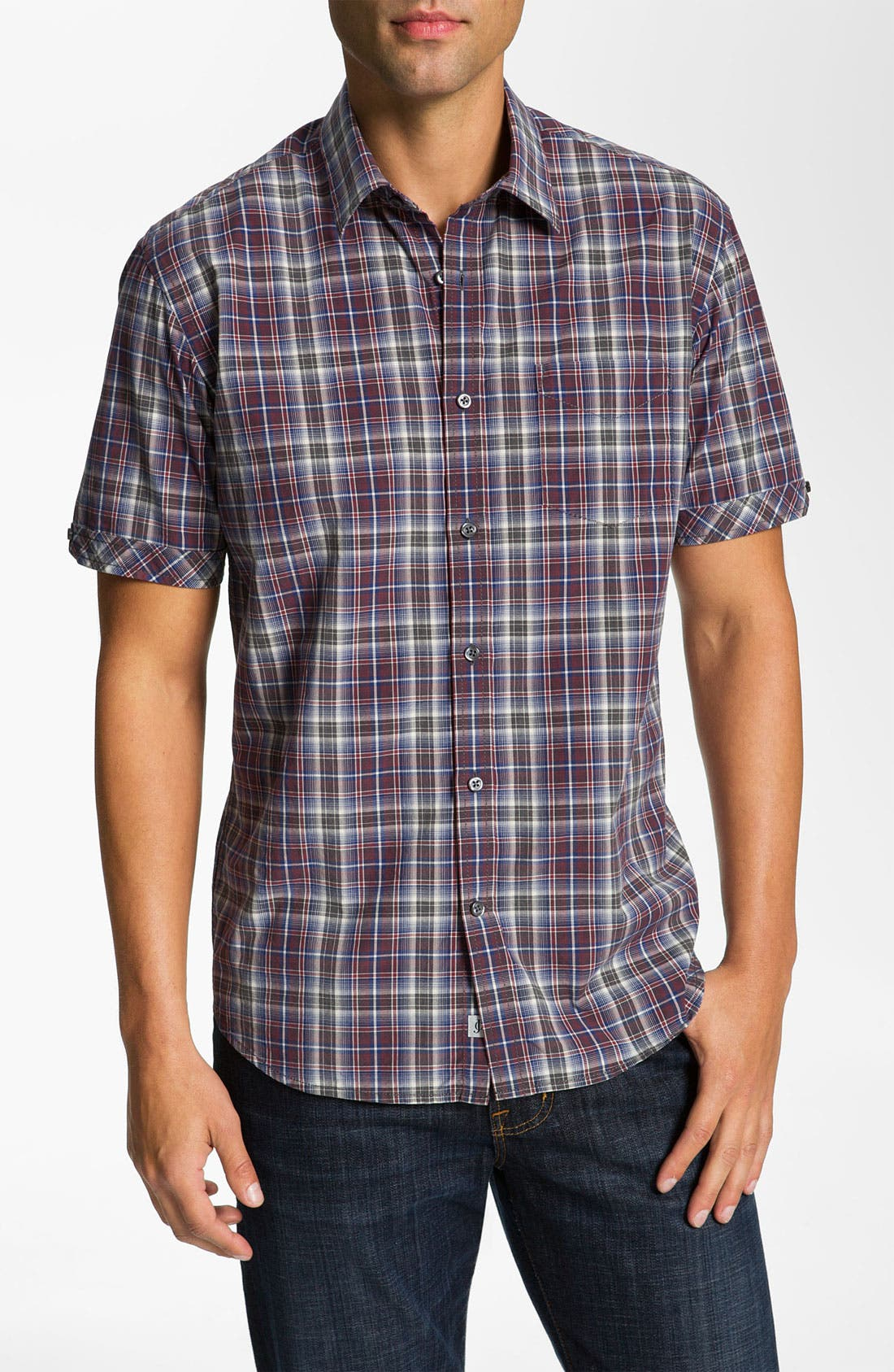 Main Image - James Campbell 'Wells' Plaid Sport Shirt