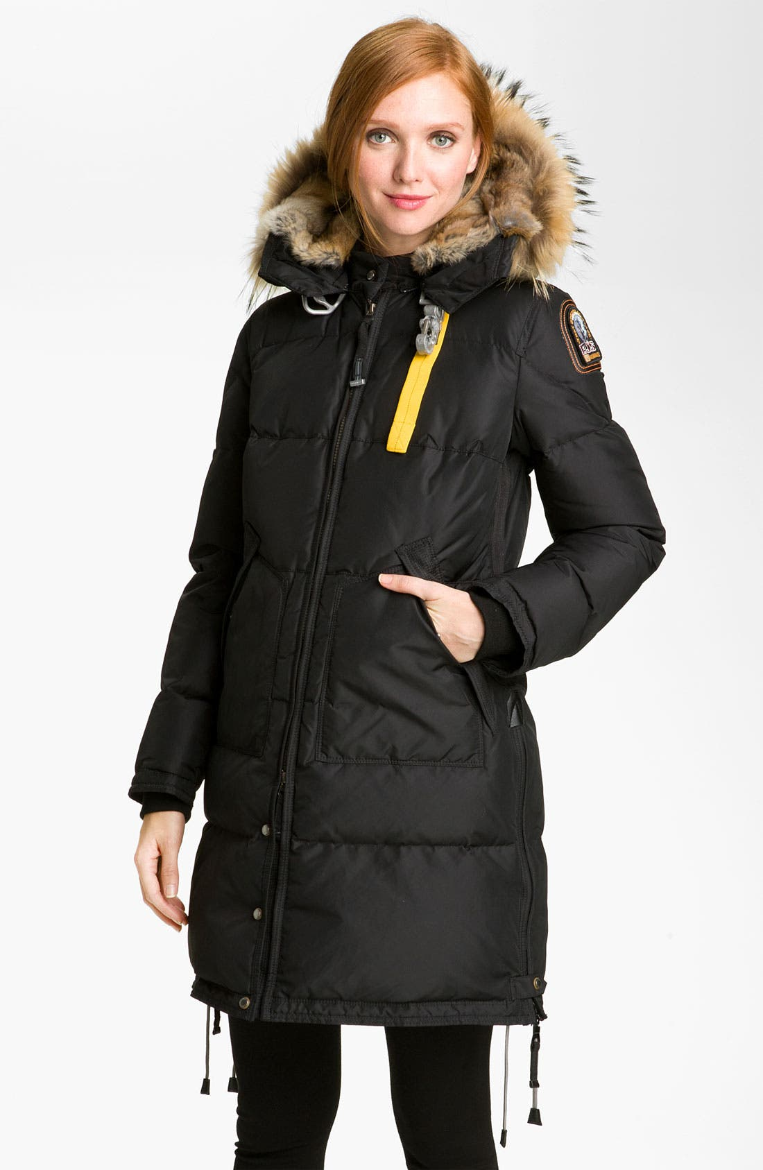 Main Image - Parajumpers Down Coat with Genuine Raccoon & Rabbit Fur