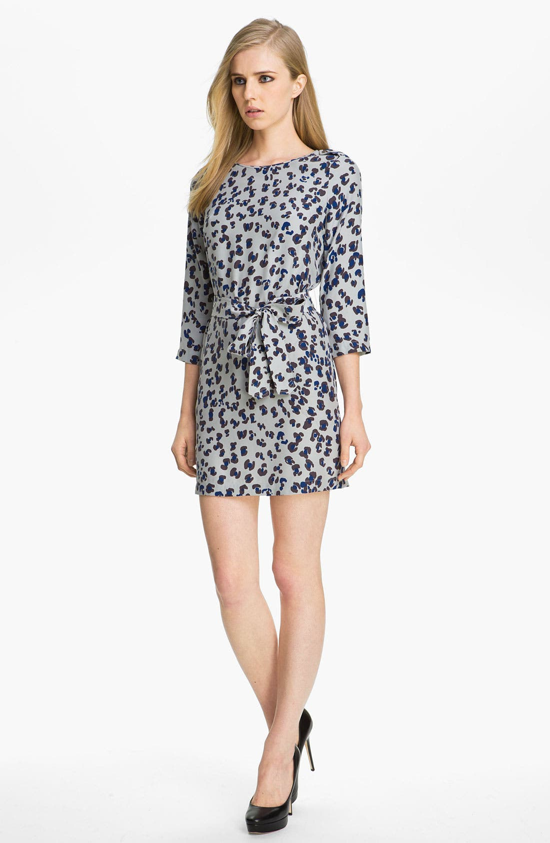Main Image - Gryphon Leopard Print Silk Dress
