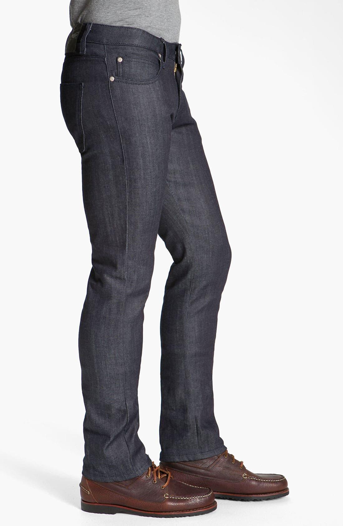 Alternate Image 3  - Naked & Famous Denim 'Skinny Guy' Slim Cotton Cashmere Skinny Leg Jeans (Dark Indigo)