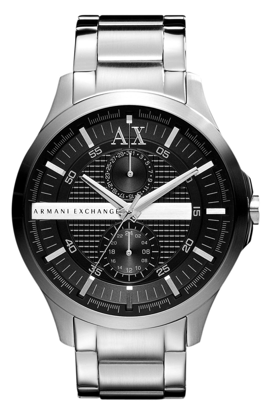 Alternate Image 1 Selected - AX Armani Exchange Round Bracelet Watch, 46mm