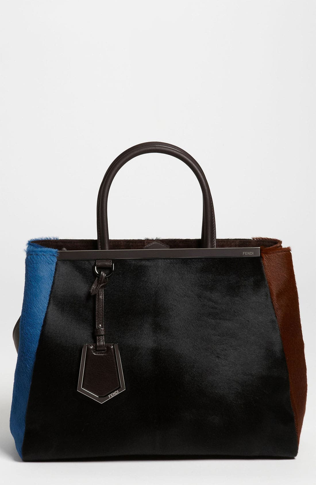 Main Image - Fendi 'Medium 2Jours' Calf Hair Shopper