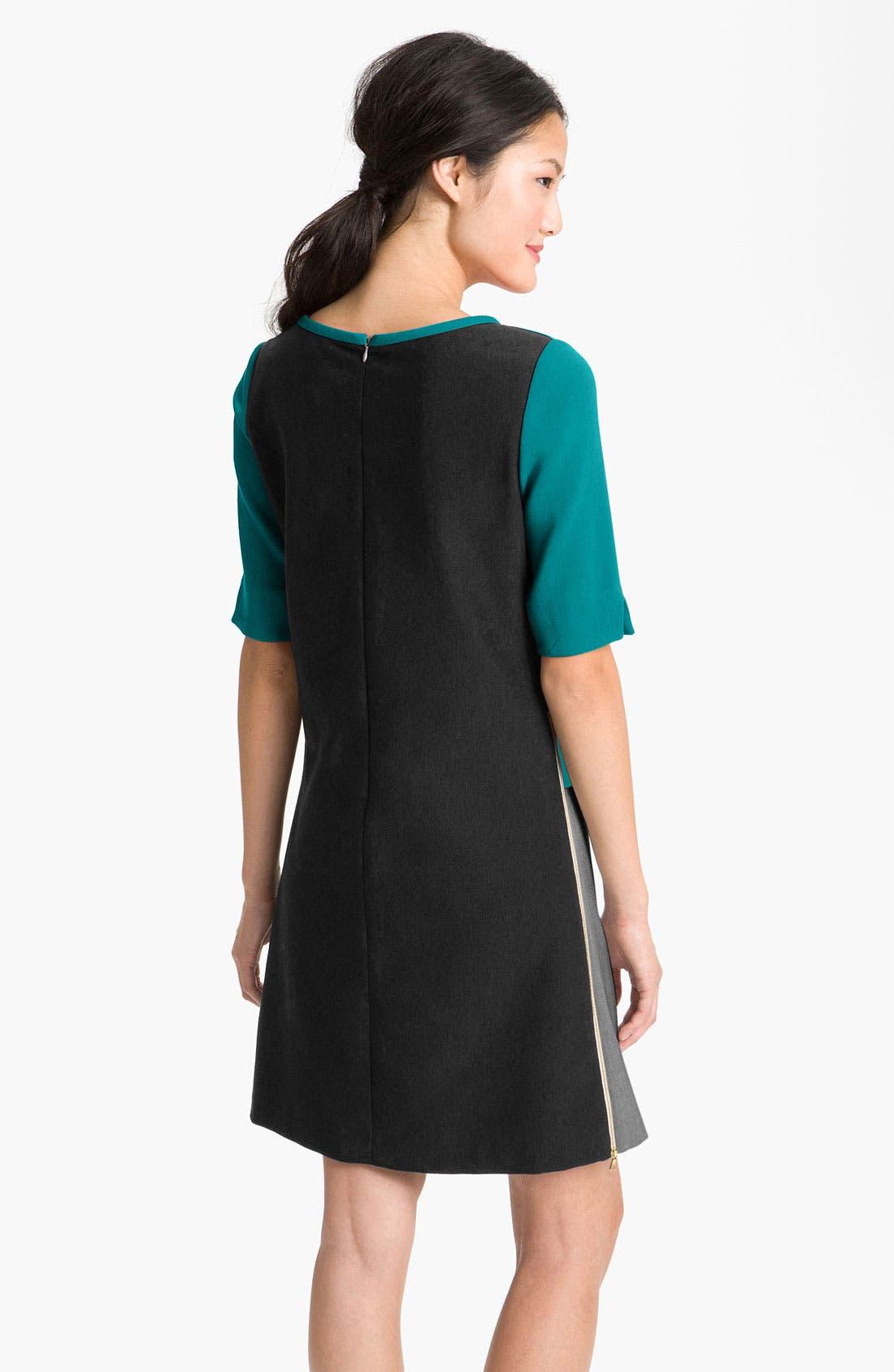 Alternate Image 2  - Eliza J Zip Detail Colorblock Shift Dress