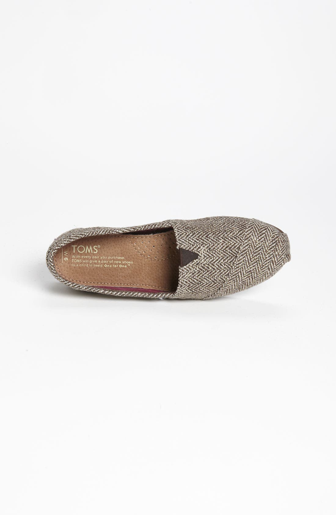 Alternate Image 3  - TOMS 'Classic' Metallic Herringbone Slip-On (Women)