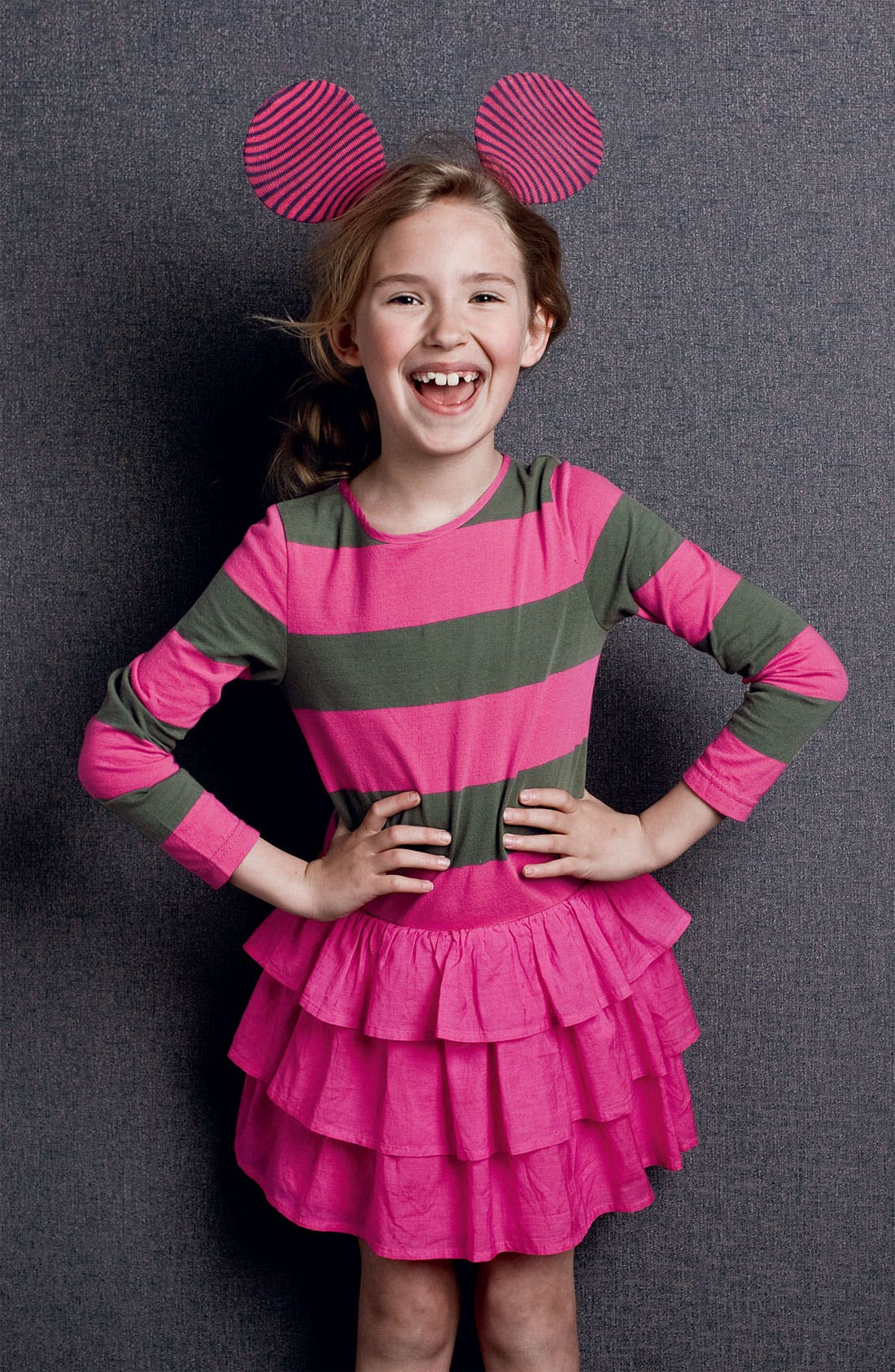 Alternate Image 2  - Mini Boden Stripe Ruffle Dress (Little Girls & Big Girls)