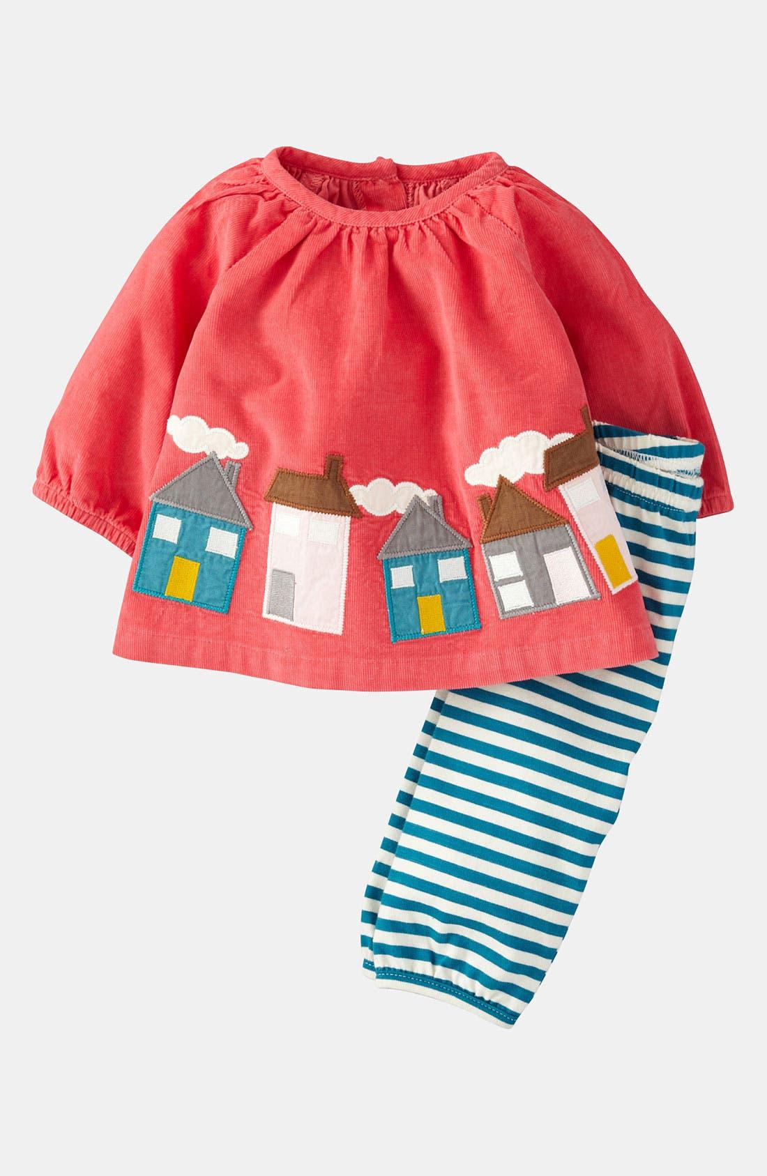 Alternate Image 1 Selected - Mini Boden Appliqué Shirt & Leggings (Infant)