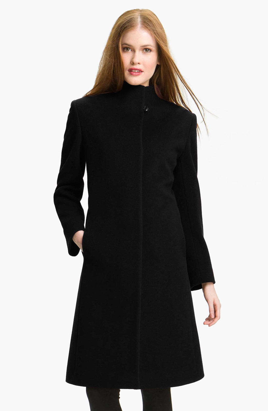 Alternate Image 1 Selected - Cinzia Rocca Due Stand Collar Long Coat