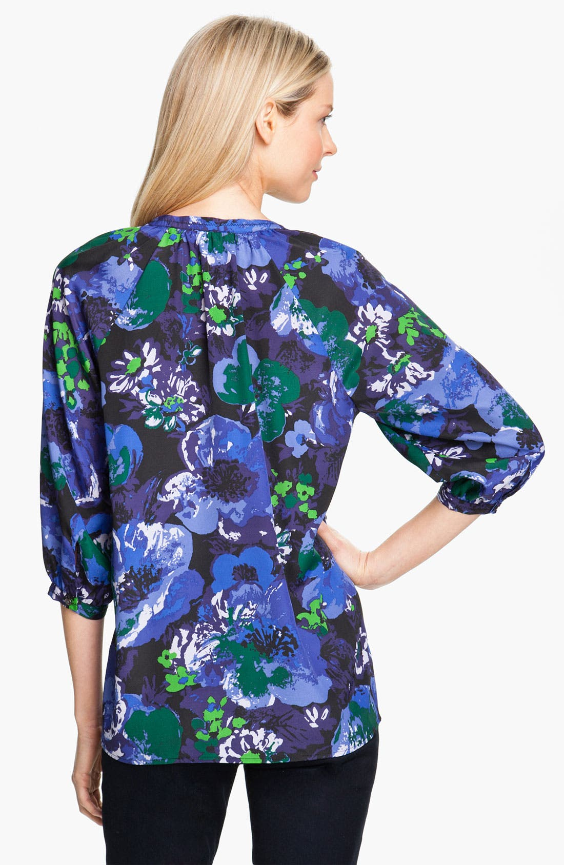 Alternate Image 2  - Isaac Mizrahi Jeans 'Effie' Floral Print Blouse