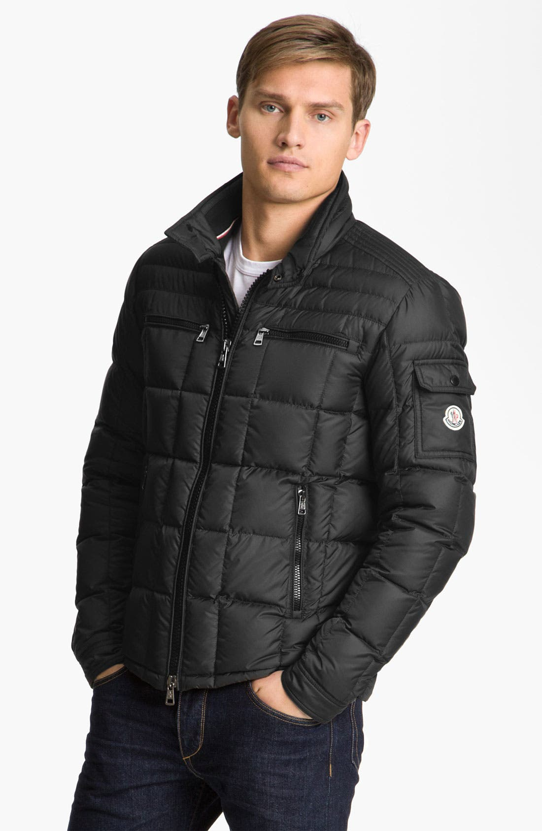 Alternate Image 1 Selected - Moncler 'Aubin' Quilted Down Jacket