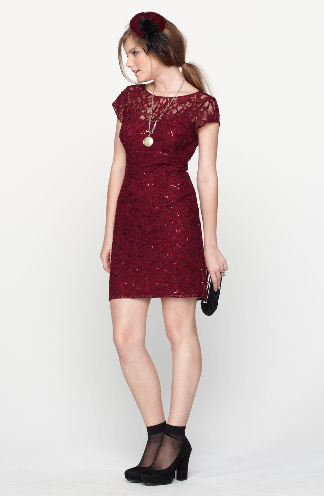Alternate Image 5  - Hailey by Adrianna Papell Embellished Lace Sheath Dress (Online Only)
