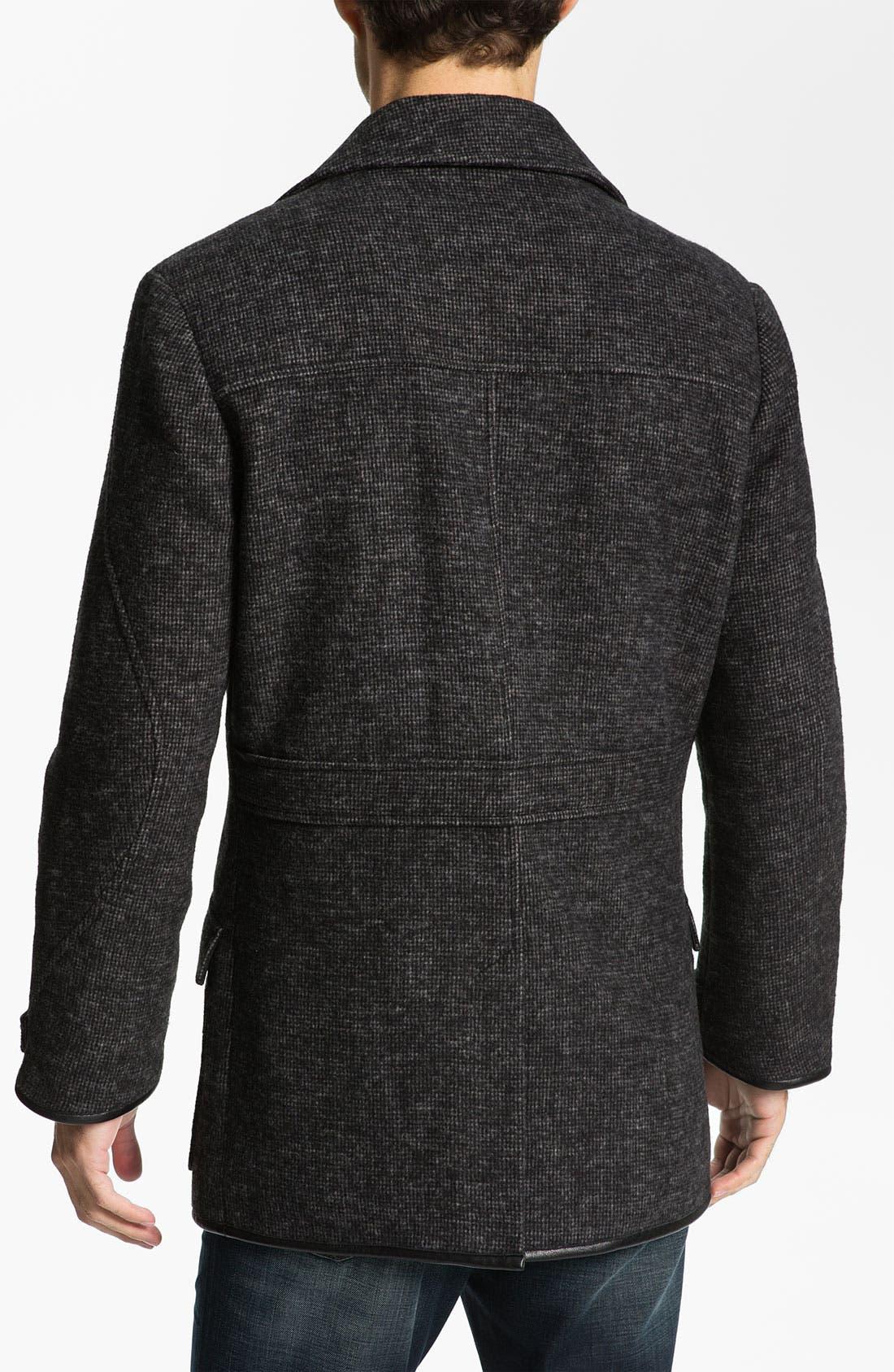 Alternate Image 2  - W.R.K Knit Wool Blend Peacoat