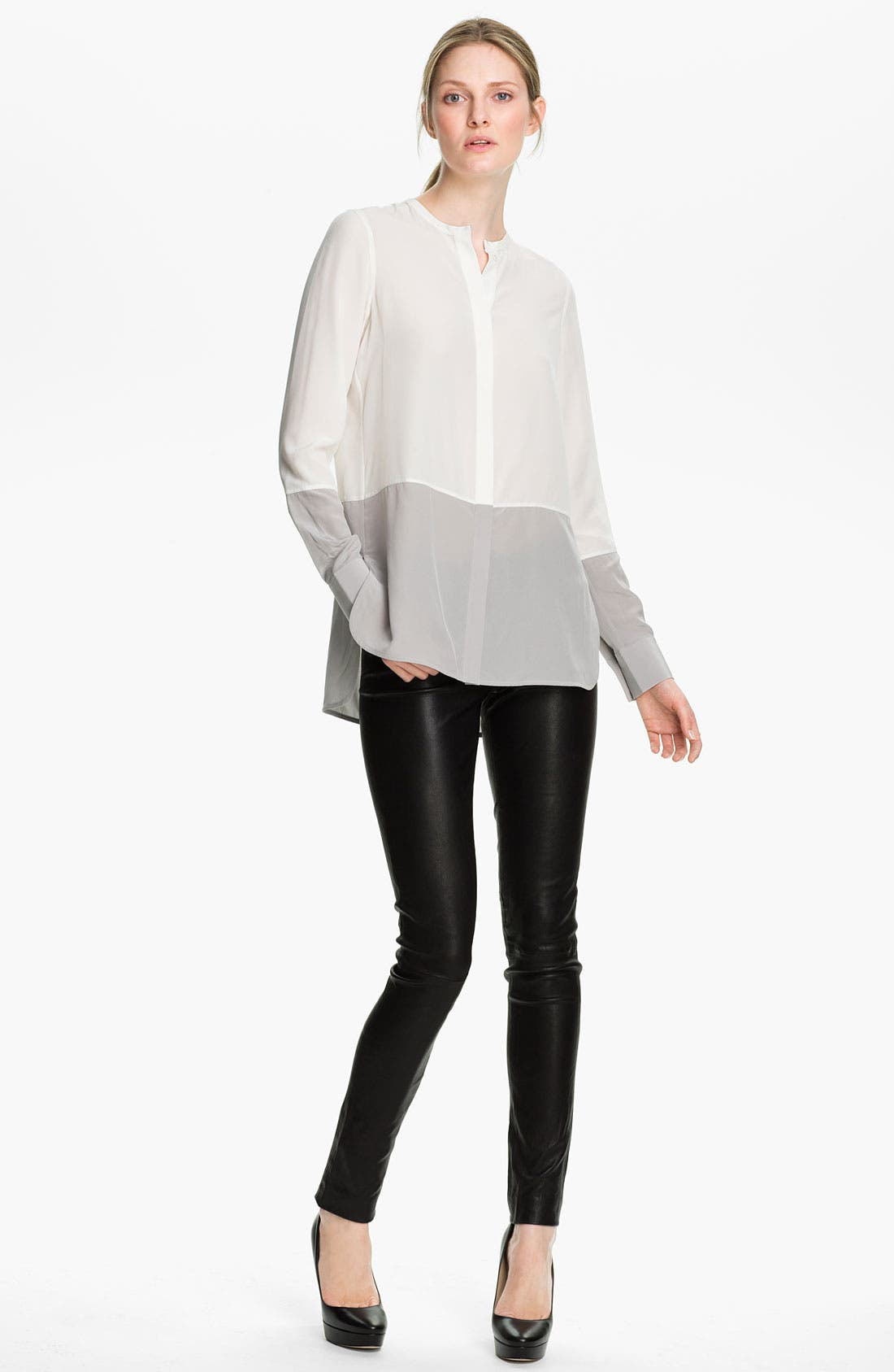 Alternate Image 1 Selected - Vince Colorblock Silk Blouse