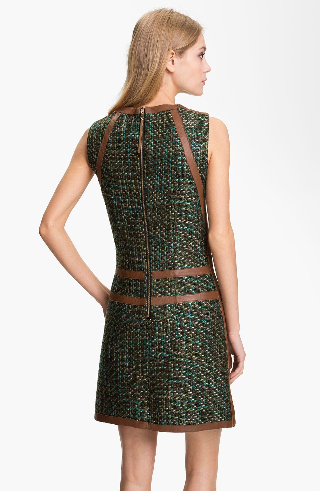 Alternate Image 2  - Rachel Roy Tweed & Leather Shift Dress