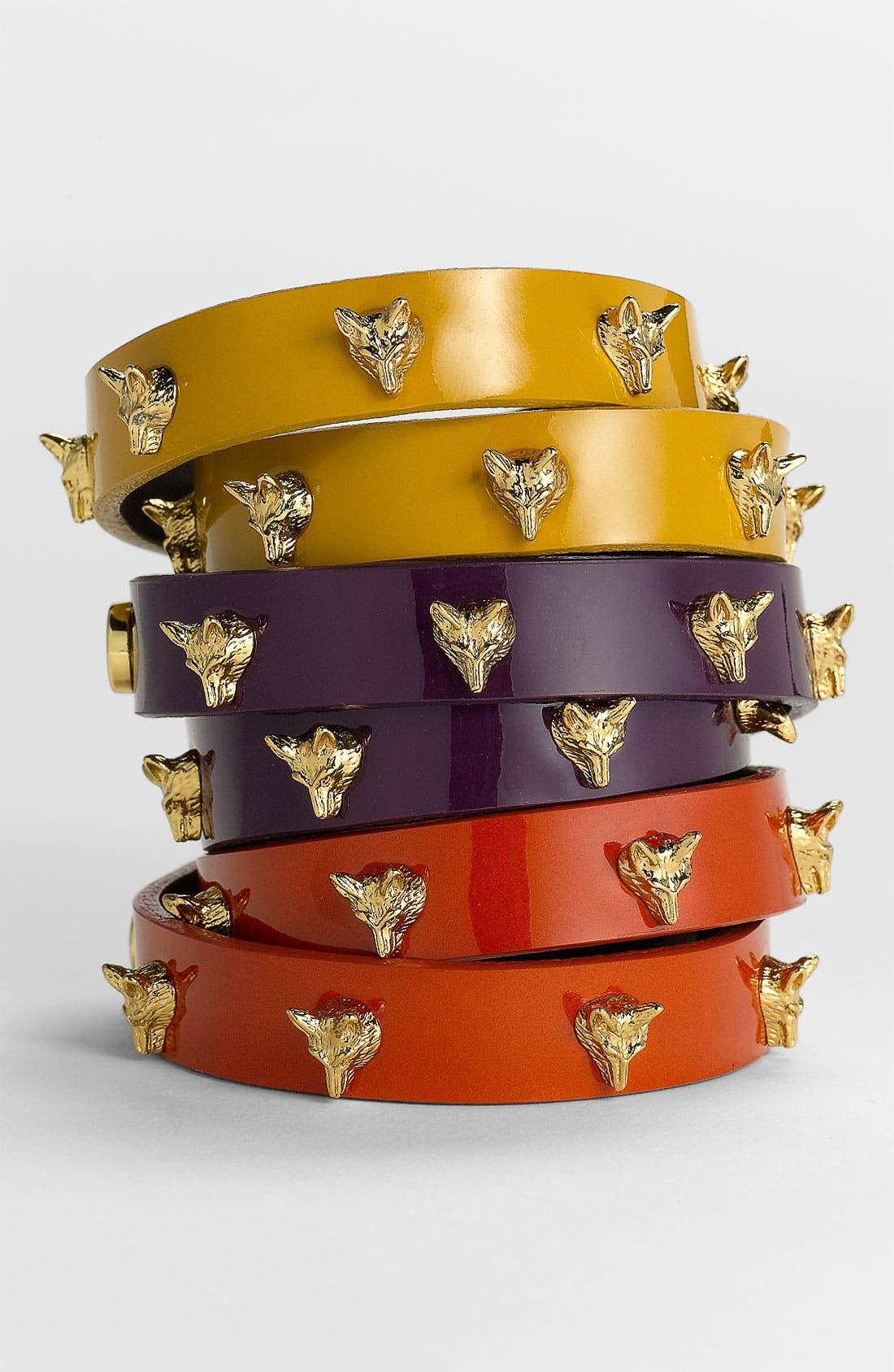 Alternate Image 1 Selected - Tory Burch 'Foxhead' Studded Wrap Bracelet