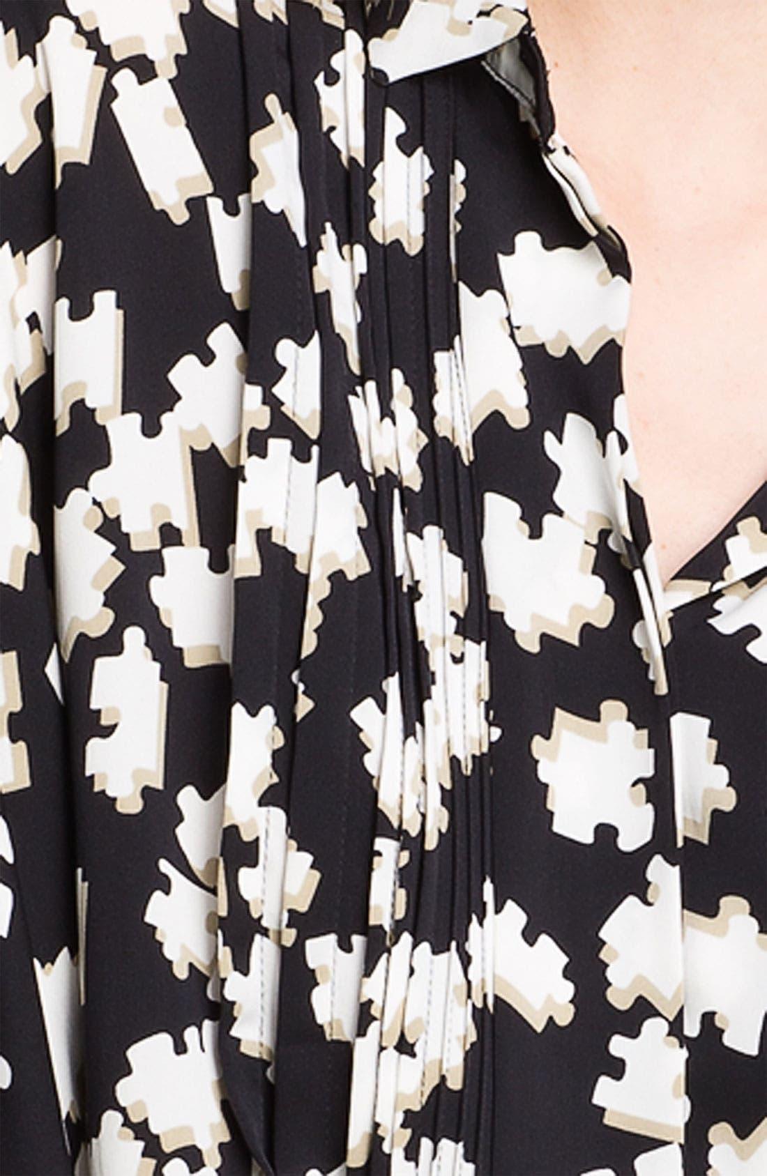 Alternate Image 3  - Diane von Furstenberg 'Mali Strggt' Print Stretch Silk Blouse