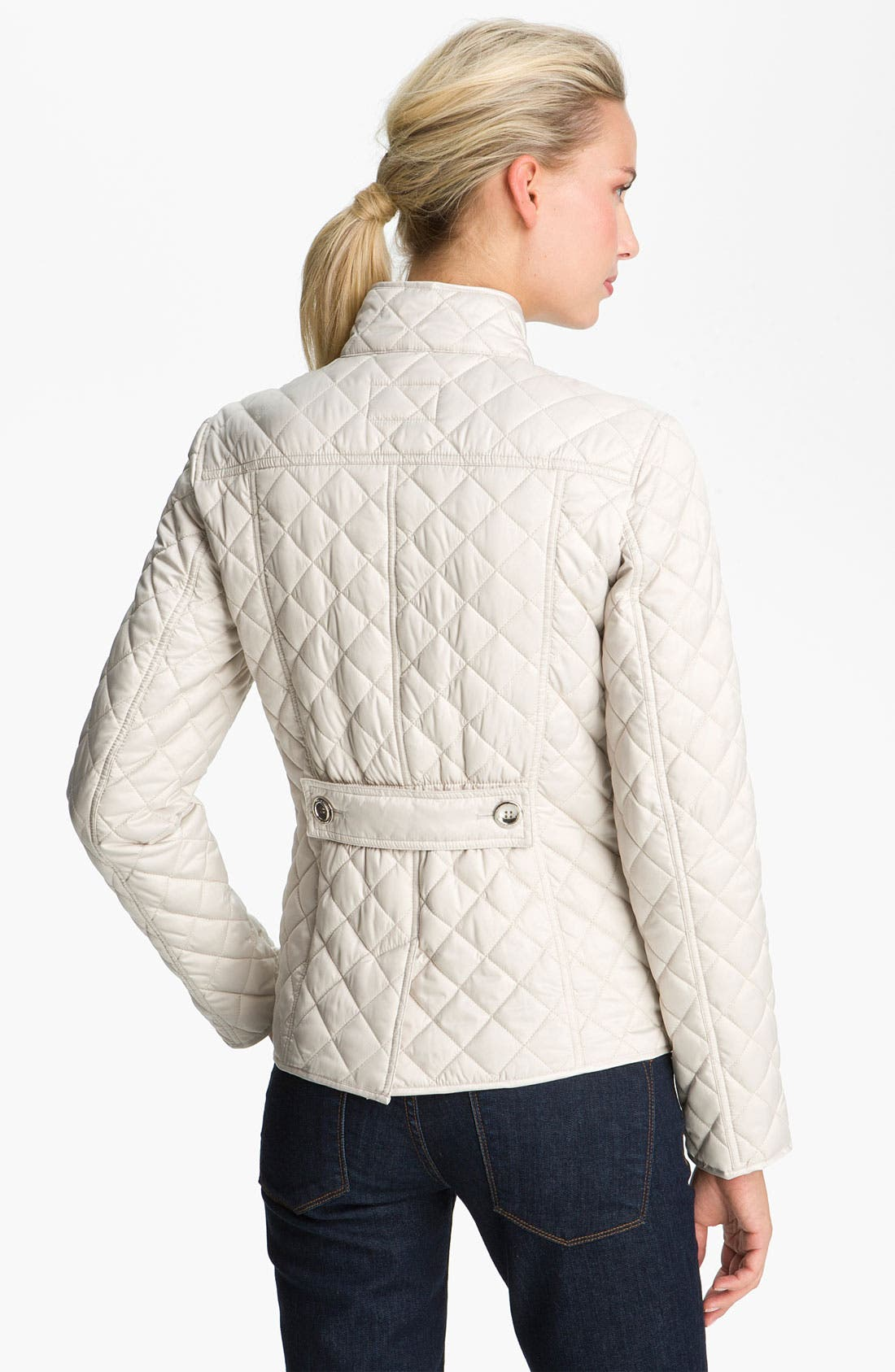 Alternate Image 2  - Laundry by Shelli Segal Quilted Zip Jacket