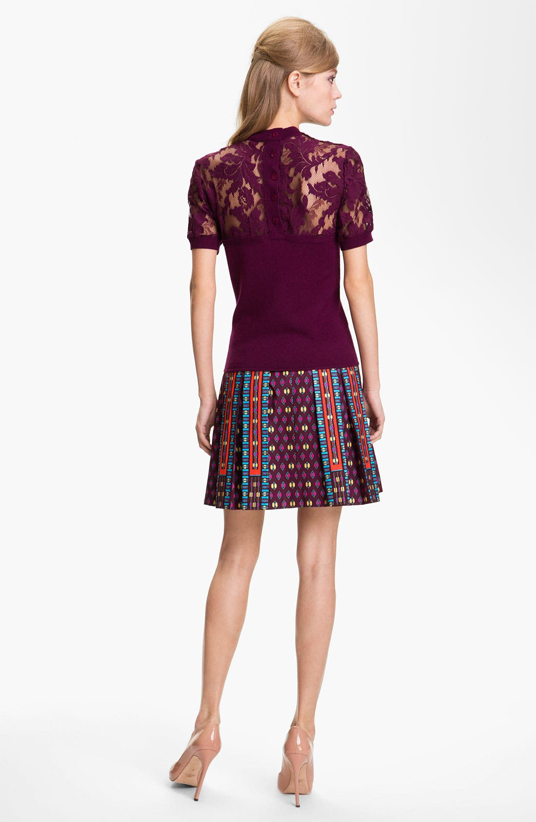 Alternate Image 5  - Nanette Lepore 'Universe' Pleated A-Line Skirt