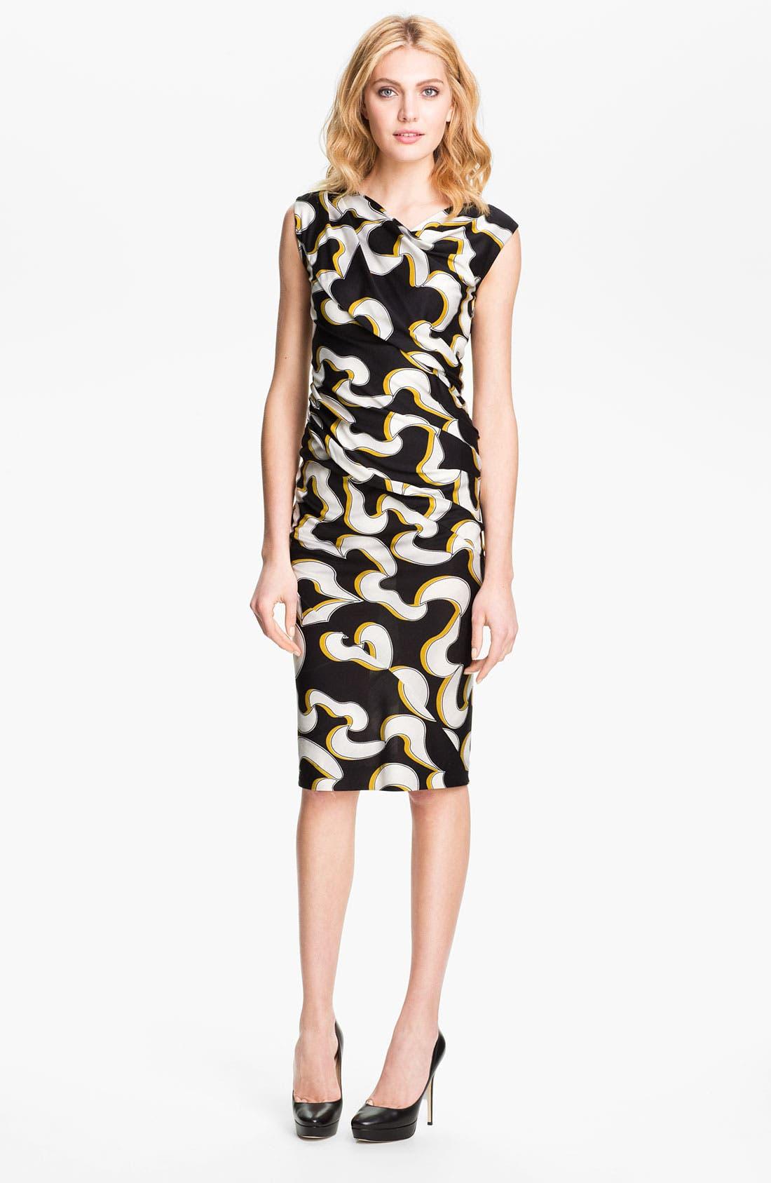 Alternate Image 1 Selected - Diane von Furstenberg 'Luisa' Silk Jersey Sheath Dress