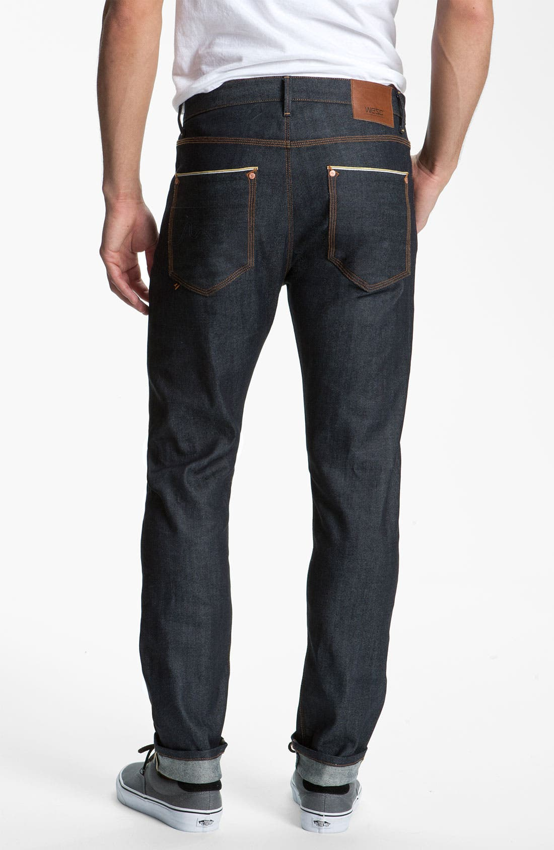 Alternate Image 1 Selected - WeSC 'Eddy' Slim Fit Jeans (Raw Stretch Selvage)