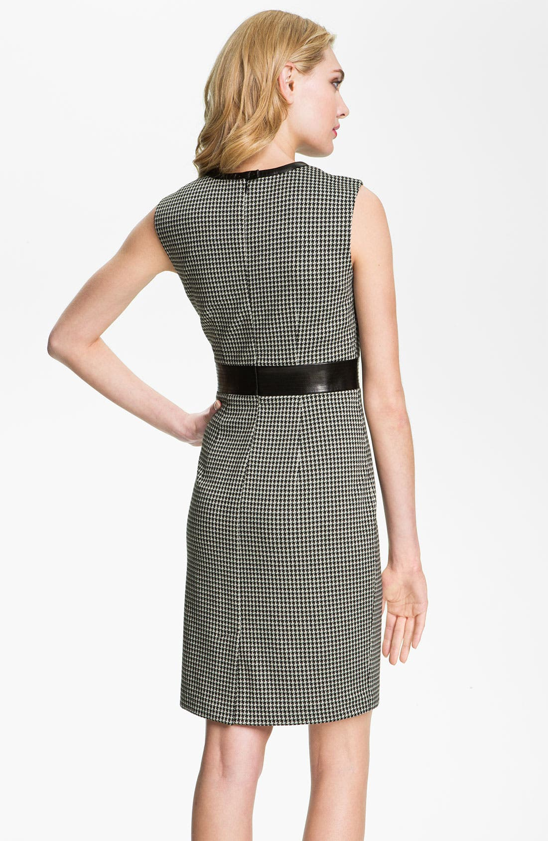 Alternate Image 2  - Calvin Klein Sleeveless Houndstooth Sheath Dress