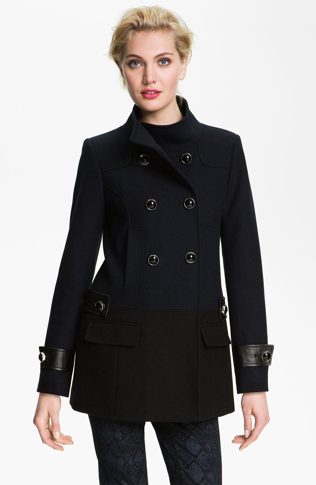 Alternate Image 1 Selected - Vince Camuto Colorblock Peacoat