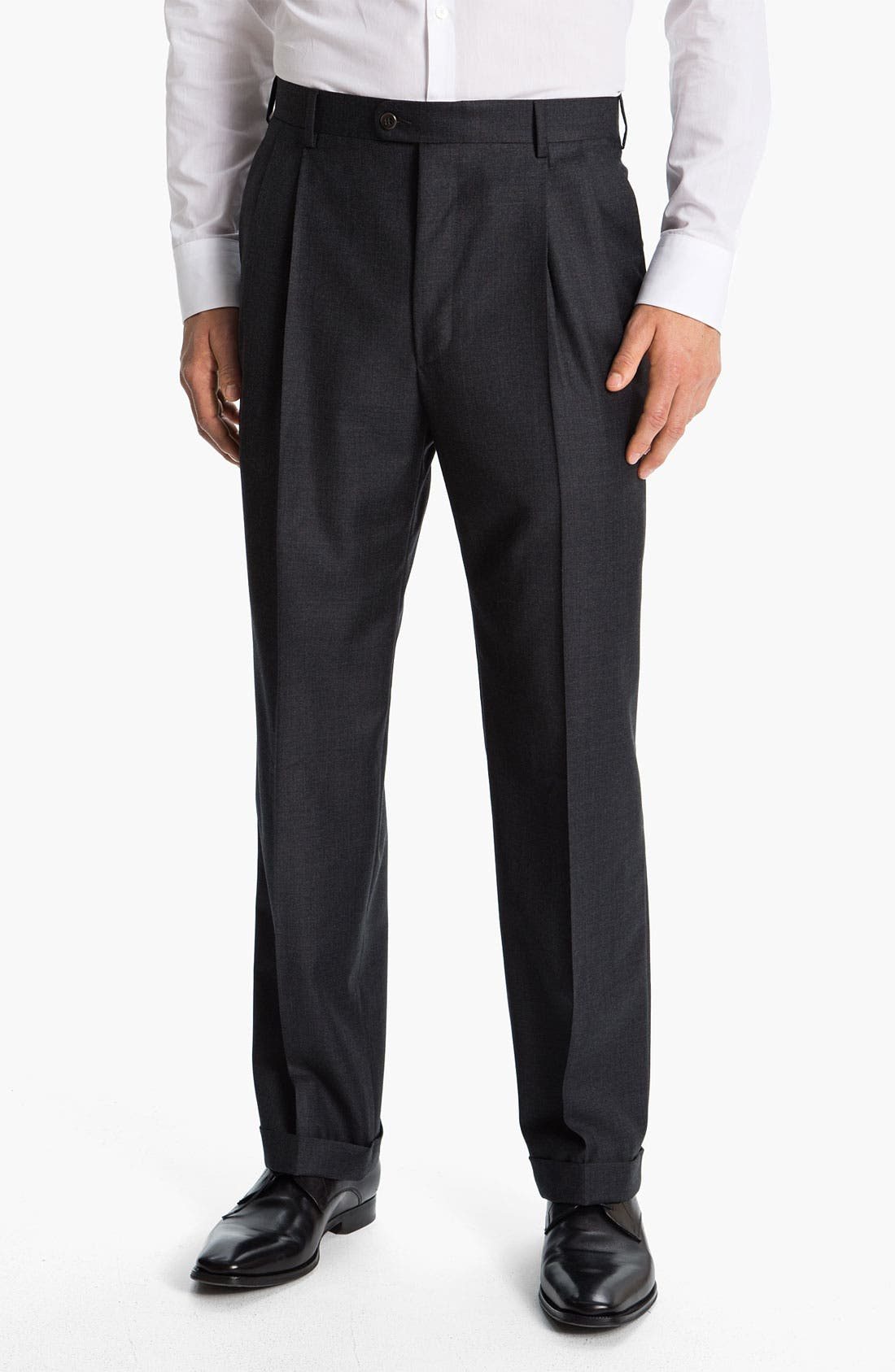 Alternate Image 1 Selected - Zanella 'Bennett' Pleated Wool Trousers