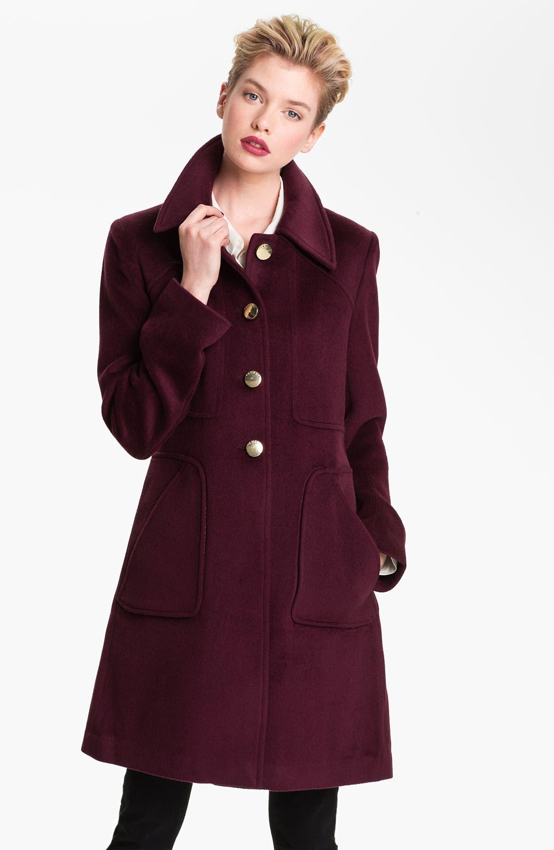 Alternate Image 1  - Tahari 'Megan' Single Breasted Coat