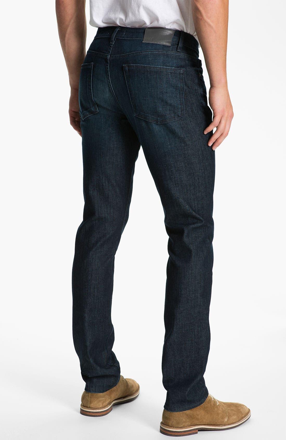 Alternate Image 1 Selected - PAIGE 'Normandie' Slim Straight Leg Jeans (Warrior)