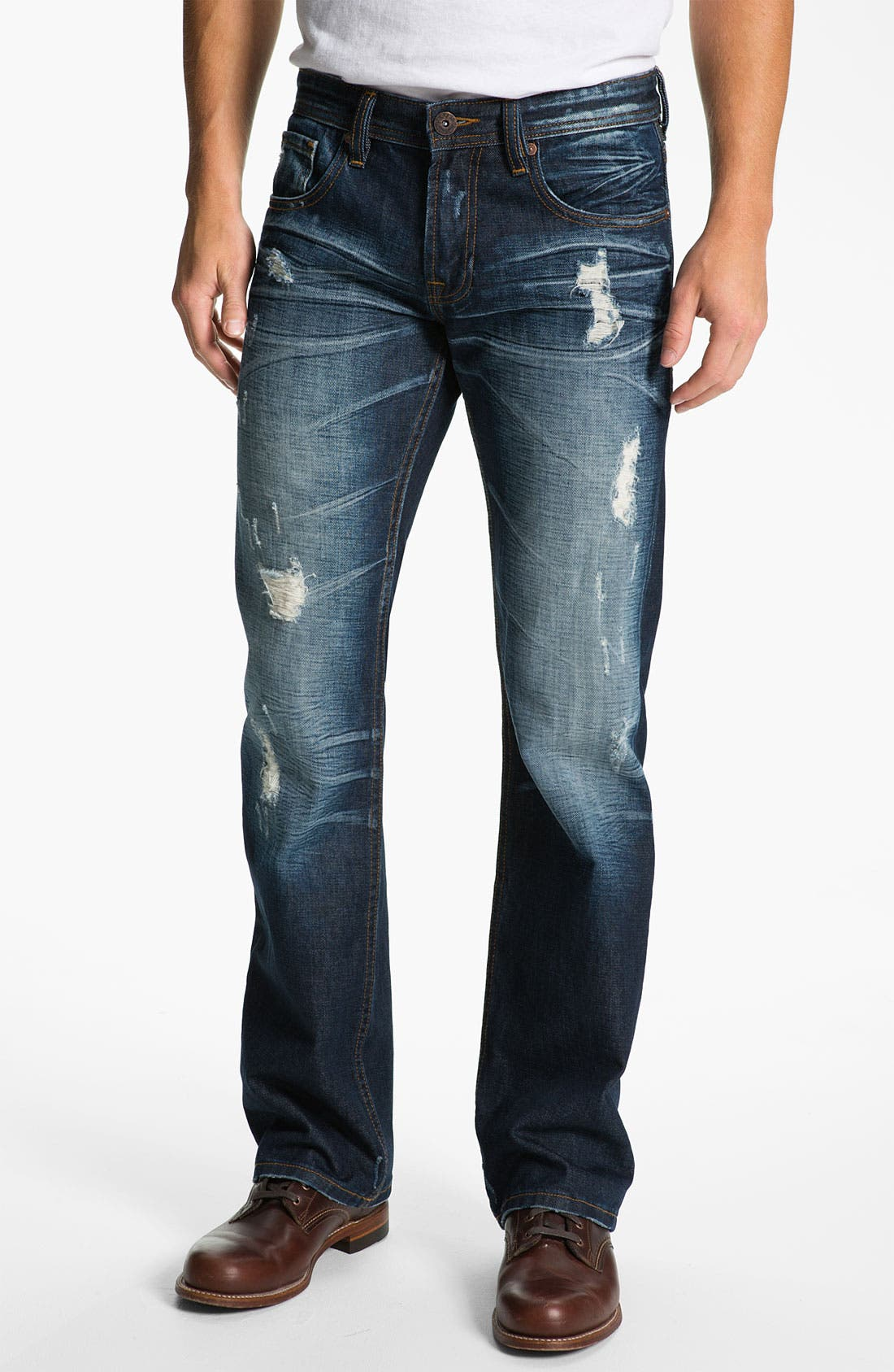 Alternate Image 2  - Cult of Individuality 'Harley' Relaxed Straight Leg Jeans (Dark Blue)